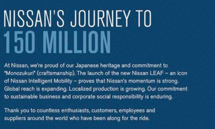 إجمالي إنتاج شركة نيسان موتور المحدودة يصل إلى 150 مليون مركبة
