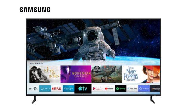 سامسونج توفر تطبيق Apple TV وتدعم ميزة آبل AirPlay 2 على تلفزيوناتها الذكية