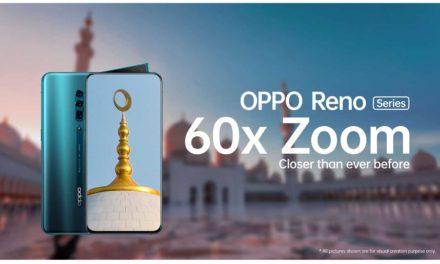 أول تقنية على الإطلاق للتقريب الرقمي حتى 60 مرة تقدّمها سلسلة هواتف OPPO Reno Series