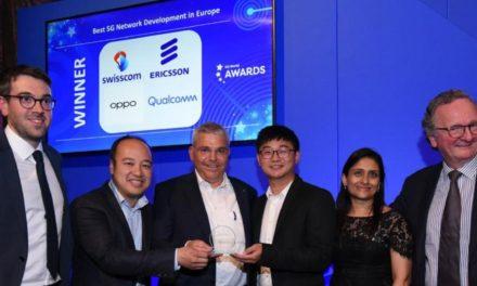 إريكسون تفوز بجائزة الريادة في مجال تقنية الجيل الخامس على المستوى الأوروبي في قمة تقنية الجيل الخامس العالمية