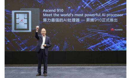 """هواوي تطلق أسيند 910 """"Ascend 910"""" أقوى معالج للذكاء الاصطناعي في العالم ونظام مايندسبور  """"MindSpore"""" لحوسبة الذكاء الاصطناعي متعدد الاستخدامات"""