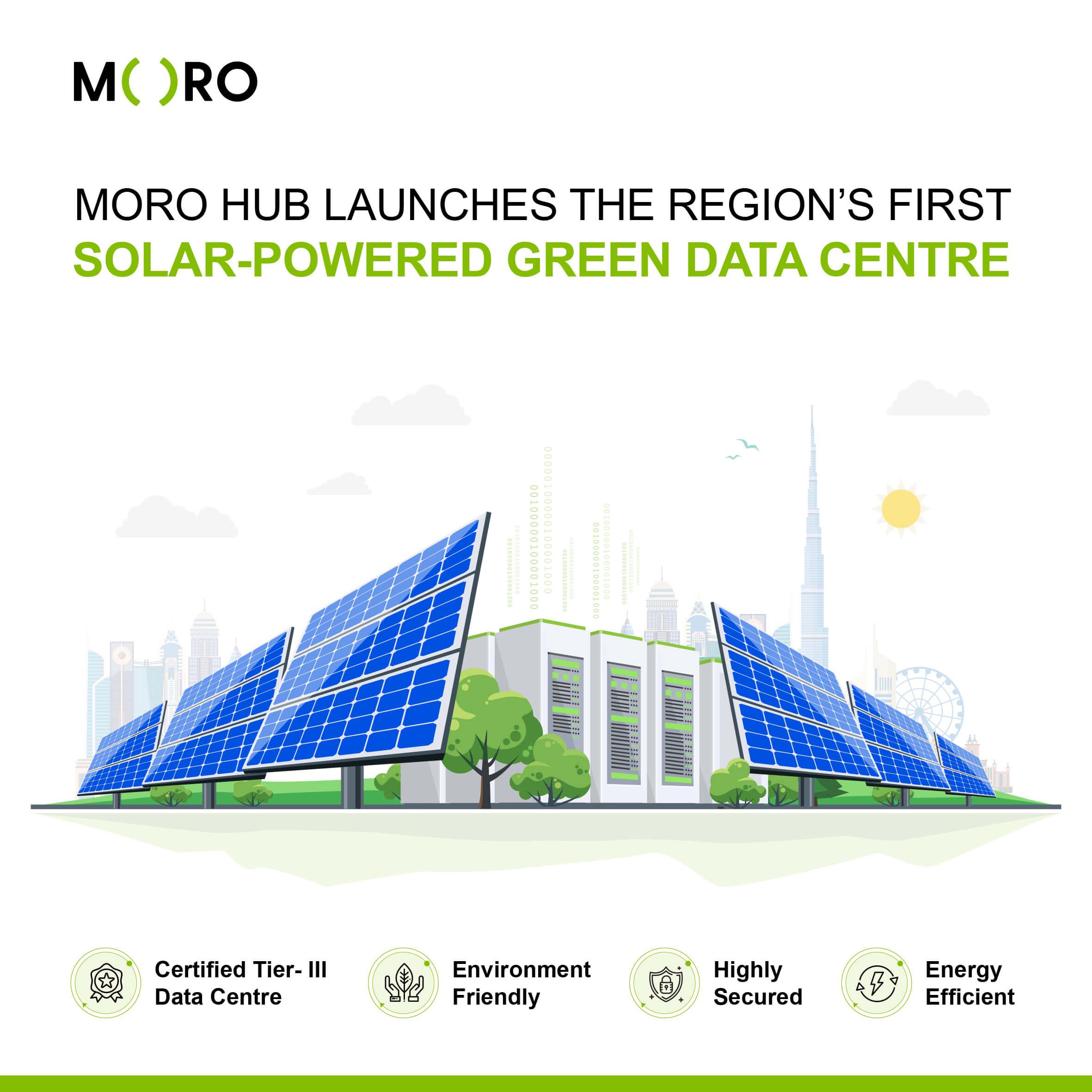مورو تُطلق أول مركز بيانات أخضر يعمل بالطاقة الشمسية في المنطقة