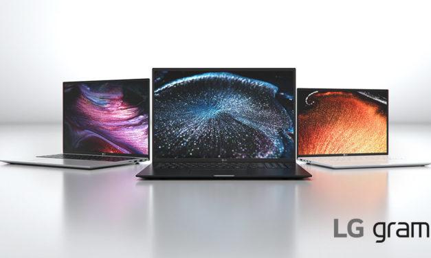 مجموعة حواسيب LG GRAM 2021 تتميز بنسبة العرض والطول الكبيرة 16:10 والتصميم الأنيق #CES2021
