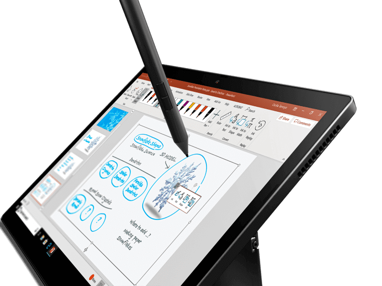 Lenovo Thinkpad X12 Detachable - Closeup Tablet Form with Pen