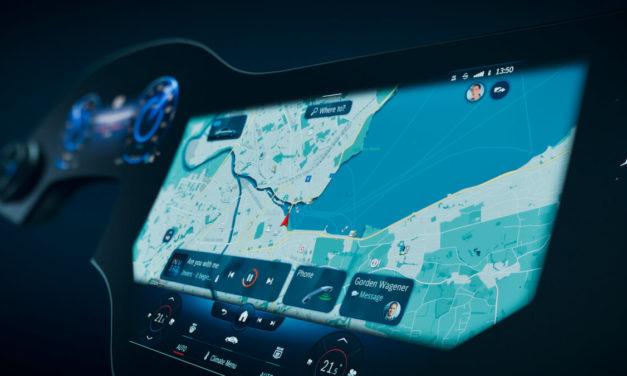 سيارة EQS ستكون مجهزة بنظام الوسائط المتعددة MBUX Hyperscreen المبتكر: تجربة مشاهدة فريدة من نوعها