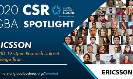إريكسون تفوز بجائزة تحالف الأعمال العالمي تكريماً لريادتها في مجال الاستجابة لجائحة كوفيد-19