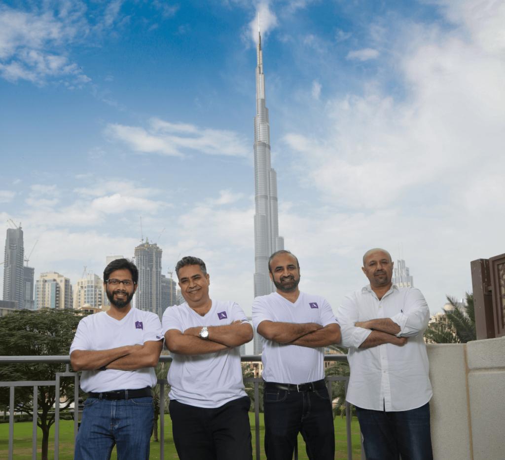Left To Right Bilal Karimbath, CTO, Pishu Ganglani, Cofounder & COO, Sandeep Shetty, Cofounder & CEO, Ricky Husaini, cofounder & CIO