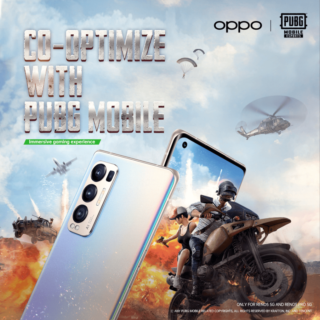 OPPO RENO5 PRO 5G NAMED THE OFFICIAL SMARTPHONE PARTNER OF PUBG MOBILE ESPORTS IN THE MEA REGION 2021 2