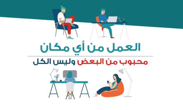 الموظفون سعداء بالعمل عن بُعد في السعودية وجاهزون لدعم الخطط الحكومية الرامية لتبنّي العمل الهجين Hybrid