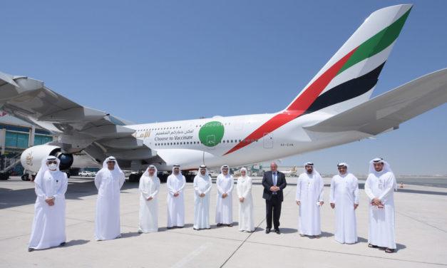 """الرحلة """"ئي كيه 2021"""" تسلط الضوء على تقدم حملة التطعيم في دولة الإمارات وعودة صناعة الطيران إلى الانتعاش"""