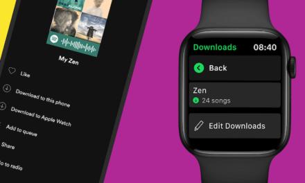 Spotify  يتيح إمكانية تحميل الموسيقى على Apple Watch للاستماع بدون اتصال أو هاتف
