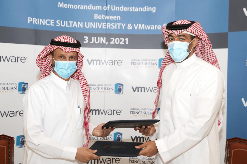 L-R Dr. Mohamed Alkanhal, PSU and Saif Mashat, VMware